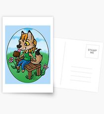 Summertime Treat - Coyote with Ice Cream Postcards