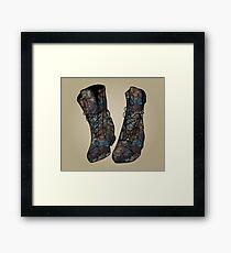 Floral Boots Framed Print