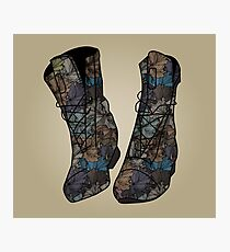 Floral Boots Photographic Print