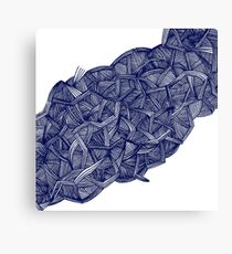 - blue lines - Canvas Print