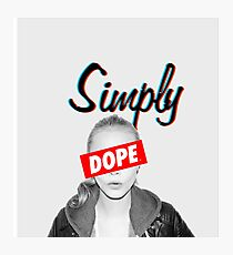 Cara Delevingne Simply Dope Photographic Print