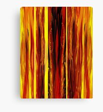 Yellow Light Abstract Forest Canvas Print