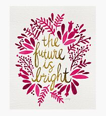 The Future is Bright – Pink & Gold Fotodruck
