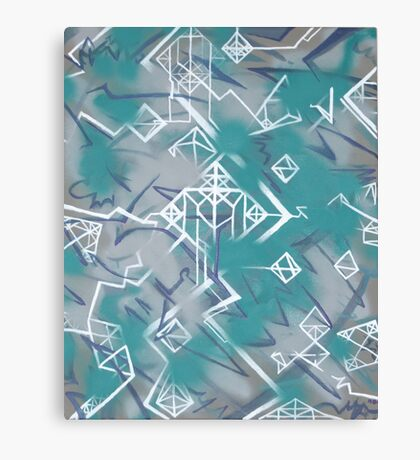 Weißklang - Abstract Painting on Acryl Canvas Print