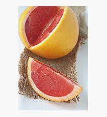 Ruby grapefruit Photographic Print