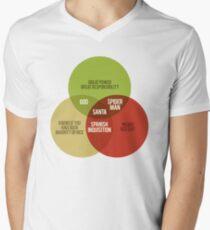 Santa Venn Diagram Men's V-Neck T-Shirt