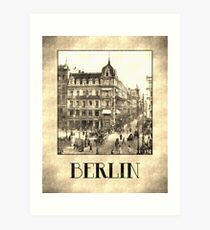 Berlin retro antique Unter den Linden grungy Art Print