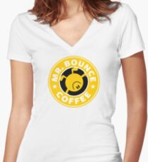 Mr. Bounce Coffee Women's Fitted V-Neck T-Shirt