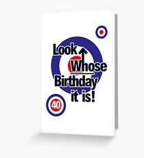 Who Birthday Card (Add any Age - no extra cost!) Greeting Card
