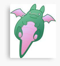Blobby Cuddle Dragon Canvas Print