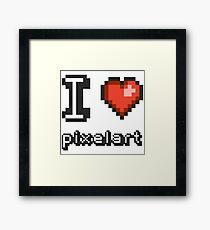 I Love Pixelart Framed Print