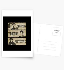 The Hunters, The Doctor and The Detective  Postcards