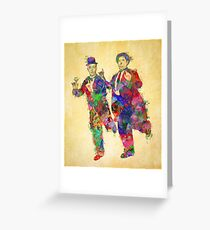 Stan Laurel and Oliver Hardy Greeting Card