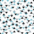 Triangles Ice Blue by ProjectM