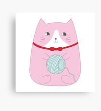 YARN KITTY Canvas Print
