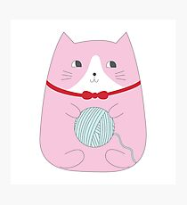 YARN KITTY Photographic Print