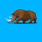 Prehistoric Pixels - Woolly Rhino  by SevenHundred