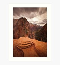 Angels Landing Zion National Park Art Print