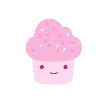Adorable Pink Cupcake by Eggtooth