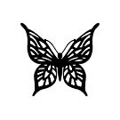 Butterfly Black on White by ProjectM