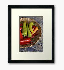 Chillies Framed Print