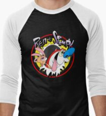 Ren & Stimpy Men's Baseball ¾ T-Shirt