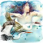 """Dancing with Birds"" - drawing  by Anna Miarczynska"