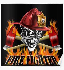 Fireman Skull Poster