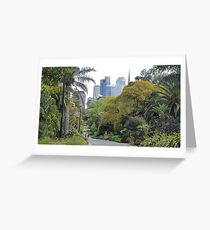 City amongst the trees Greeting Card