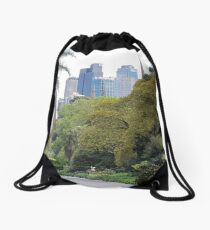 City amongst the trees Drawstring Bag