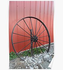 Vintage Wagon Wheel Poster