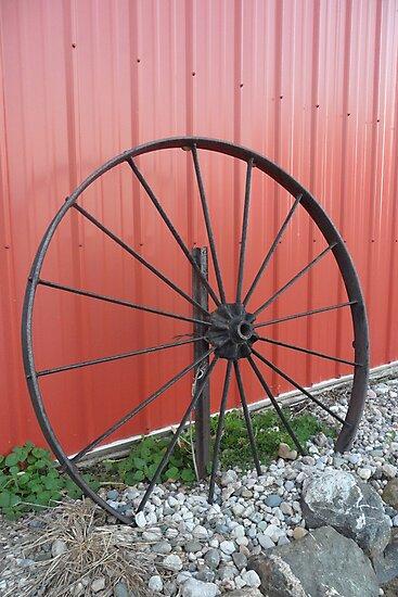 Vintage Wagon Wheel by Melissa Delaney