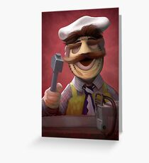 Muppet Maniacs - Swedish Chef as Leatherface Greeting Card