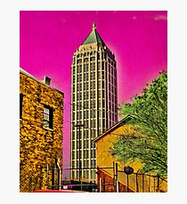 The city is groovy when you see it through acid shades Photographic Print
