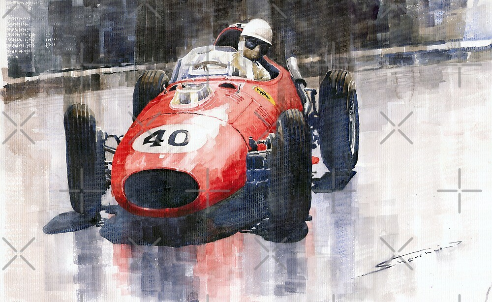 Ferrari Dino 246 F1 Monaco GP 1958 Wolfgang von Trips by Yuriy Shevchuk