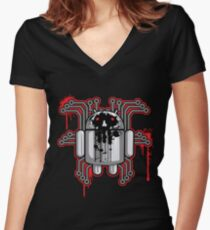 Distruktive Droid Women's Fitted V-Neck T-Shirt
