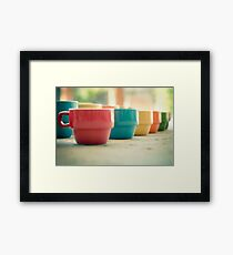 Rainbow Mugs Framed Print