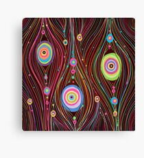 Abstract Vector Background with lines and circles Canvas Print