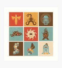The Lovecraftian Squares Art Print