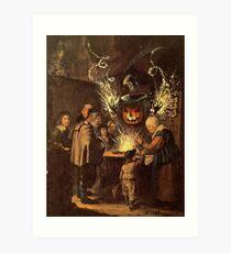 The Pumpkin Magician Art Print