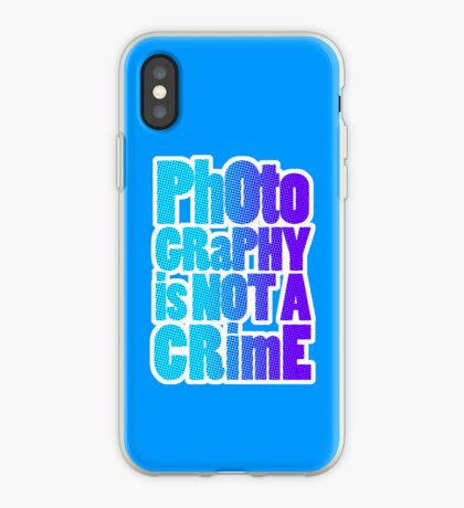 photography is not a crime iPhone Case
