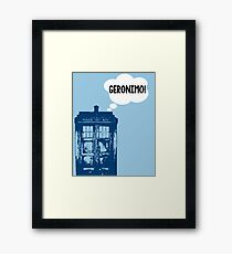 """GERONIMO!"" - 11th Doctor Framed Print"