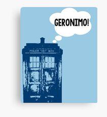 """GERONIMO!"" - 11th Doctor Canvas Print"