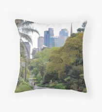City amongst the trees Throw Pillow