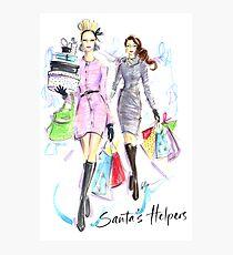 Santa's Helpers Photographic Print