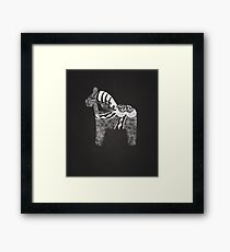 Chalky The Dala Horse Framed Print