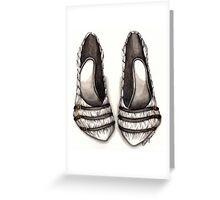White & Black Shoe Greeting Card