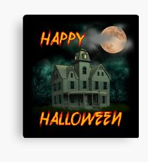Haunted Mansion - Happy Halloween Canvas Print