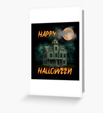 Haunted Mansion - Happy Halloween Greeting Card