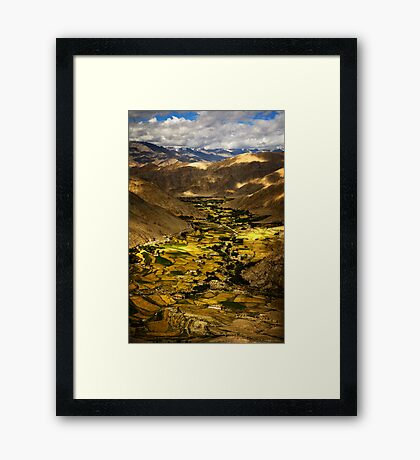 A flash of green  Framed Print